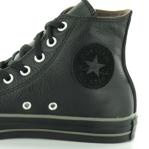0547ac306894 Converse All Star Hi 125565C Mens Leather Hi Top Basketball Boots - Black