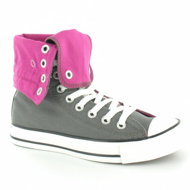 competitive price 3364d dbfa3 Converse All Star 127534C Knee Hi XHi Womens Basketball Boots - Charcoal  Grey  amp  Cactus