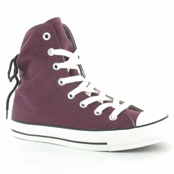 eaa7dd0b6517 Converse All Star 525997C Slouchy Hi Womens Canvas Hi Top Basketball Boots  - Grapewine Purple