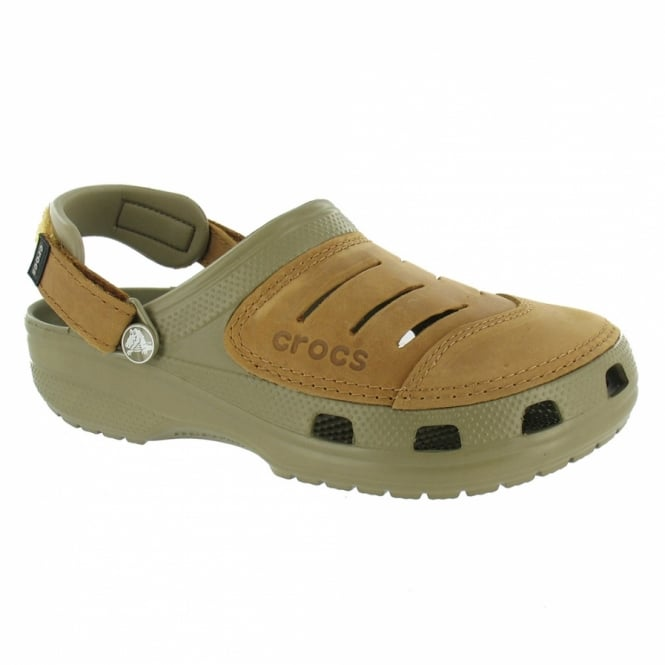 KhakiBrown Leather From Sandals Scorpio Yukon Mens Crocs qUGjLVSpzM