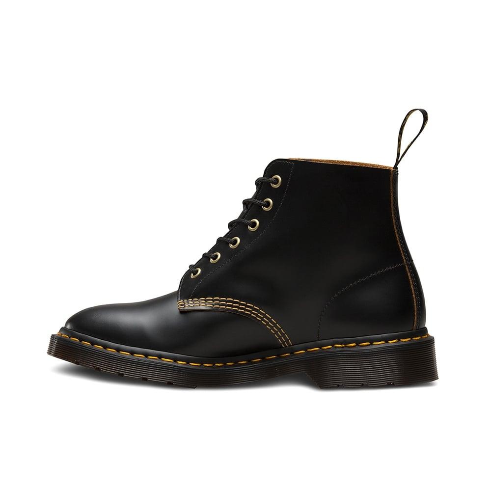 101 Arc Unisex 6 Eyelet Leather Boots Black