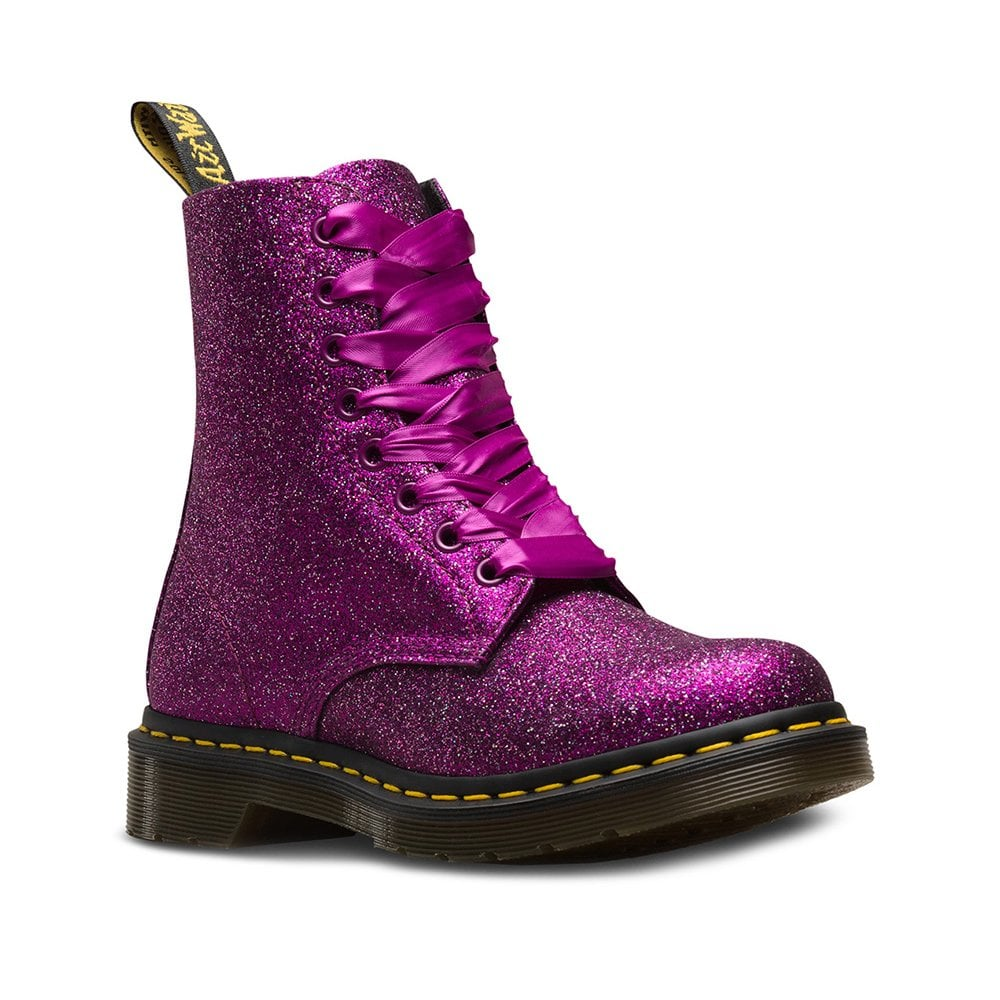 65bb5903ad15 Dr Martens 1460 Pascal Glitter Womens 8-Eyelet Boots in Purple Multi