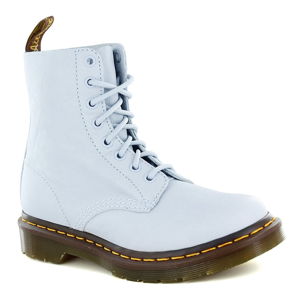 22a4e20e8f8fb Dr Martens 1460 Pascal Womens Leather 8-Eyelet Ankle Boots - Blue Moon