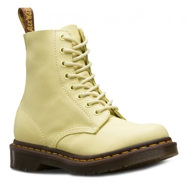 reputable site 7cad9 3f895 Dr Martens 1460 Pascal Womens Leather 8-Eyelet Ankle Boots - Pastel Yellow