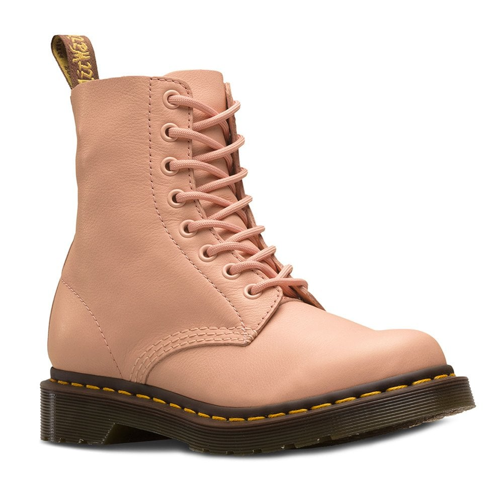great deals 2017 attractive colour amazing price 1460 Pascal Womens Leather 8-Eyelet Ankle Boots - Salmon Pink