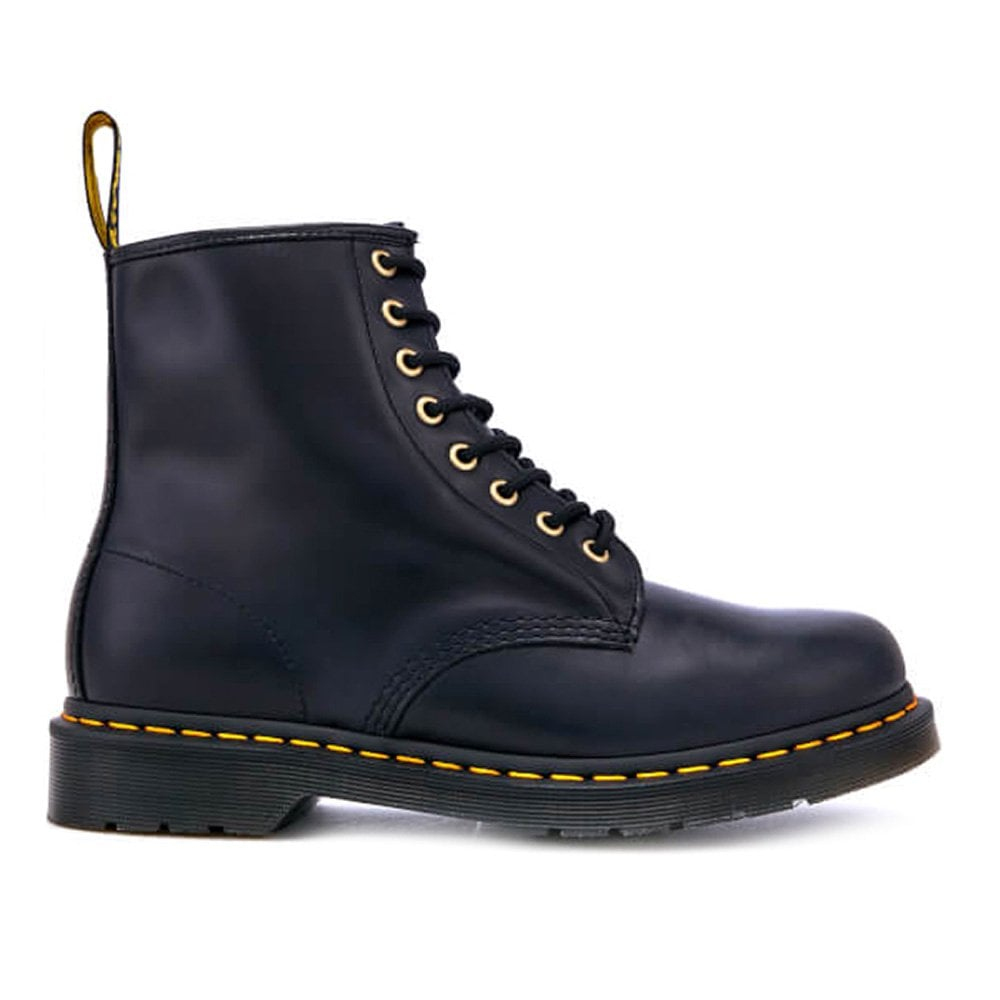 319385fff1 Dr Martens 1460 Unisex Aqua Glide Leather 8-Eyelet Boots in Navy Blue