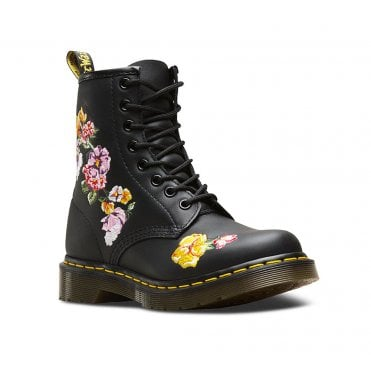 Dr Martens 1460 Vonda II Womens Leather 8-Eyelet Boots - Black