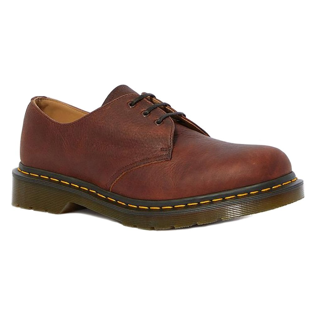 1461 Abandon Made In England Mens Premium Leather Shoes Dark Tan