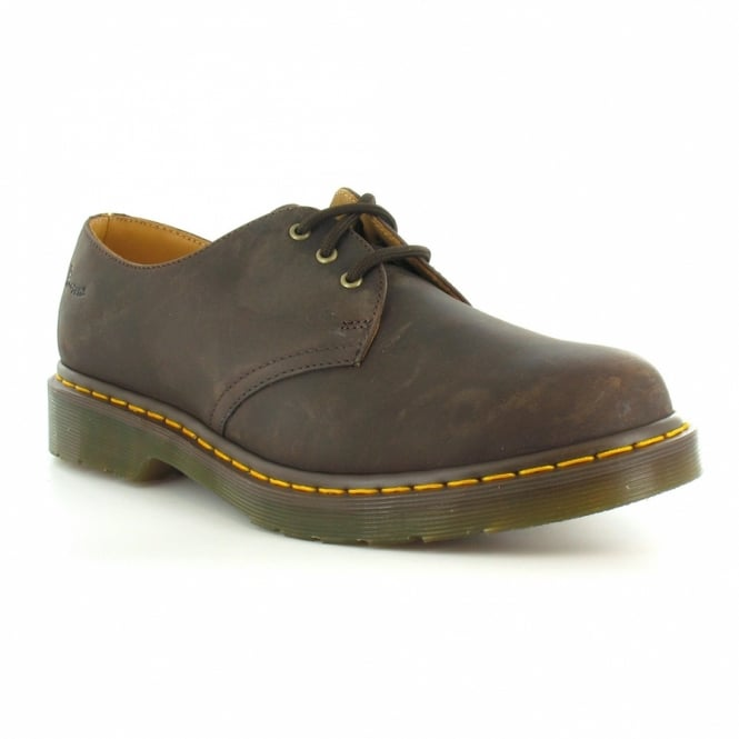 1461 Mens Leather 3 Eyelet Shoes Gaucho Brown