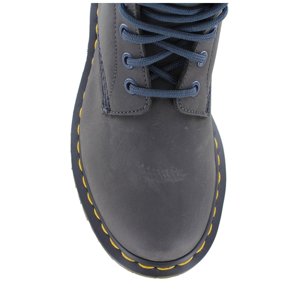 dr martens 1490 fl womens warm leather boots graphite grey