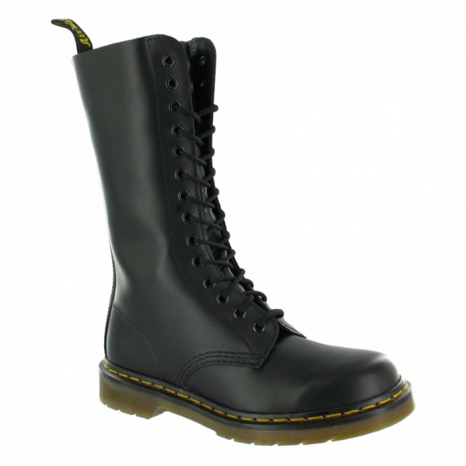 Dr Martens 1914z Boys + Girls Leather Mid-Calf Boots - Black