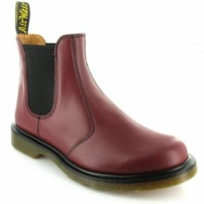 Dr Martens 2976 Mens Leather Pull-Up Chelsea  Ankle Boots - Cherry Red