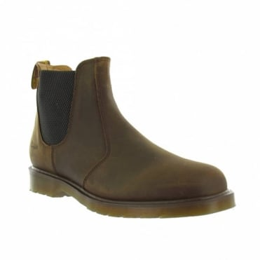 Dr Martens 2976 Unisex Leather Pull-Up Chelsea Boots - Gaucho Brown