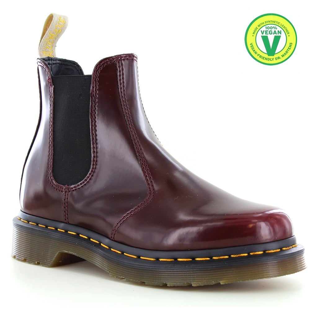 official shop new items free shipping 2976 Unisex Vegan Chelsea Boots - Cherry Red