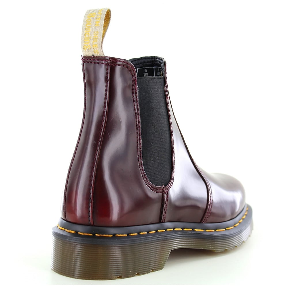 ed651bd9eb40b7 Dr Martens 2976 Unisex Vegan Chelsea Boots - Cherry Red
