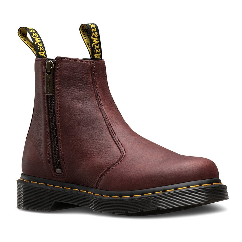 Dr Martens 2976 Womens Leather Chelsea Boots With Zip