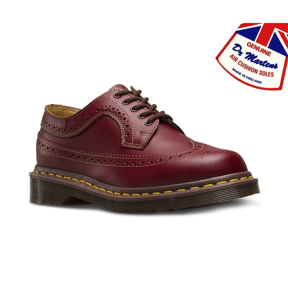 3989 Made in England Unisex Leather Brogue Shoes Oxblood
