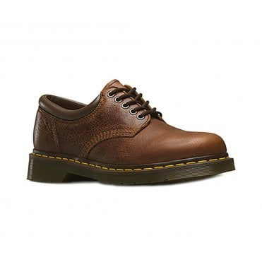 Dr Martens 8053 Unisex 5-Eyelet Padded Collar Shoes - Tan Brown