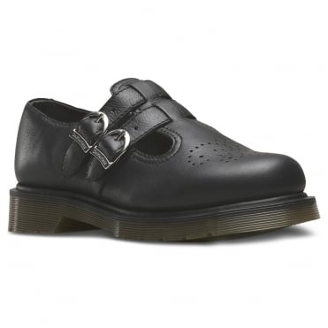 Dr Martens 8065 Womens Virginia Leather Mary Jane Shoes - Black
