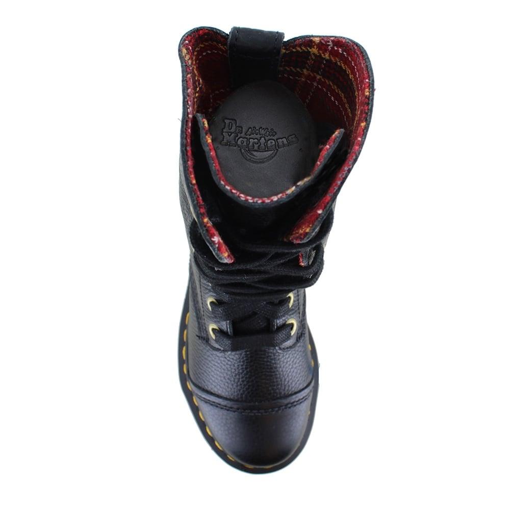 da6eebf76b4 Aimilita Womens Leather 9-Eyelet Boots - Black