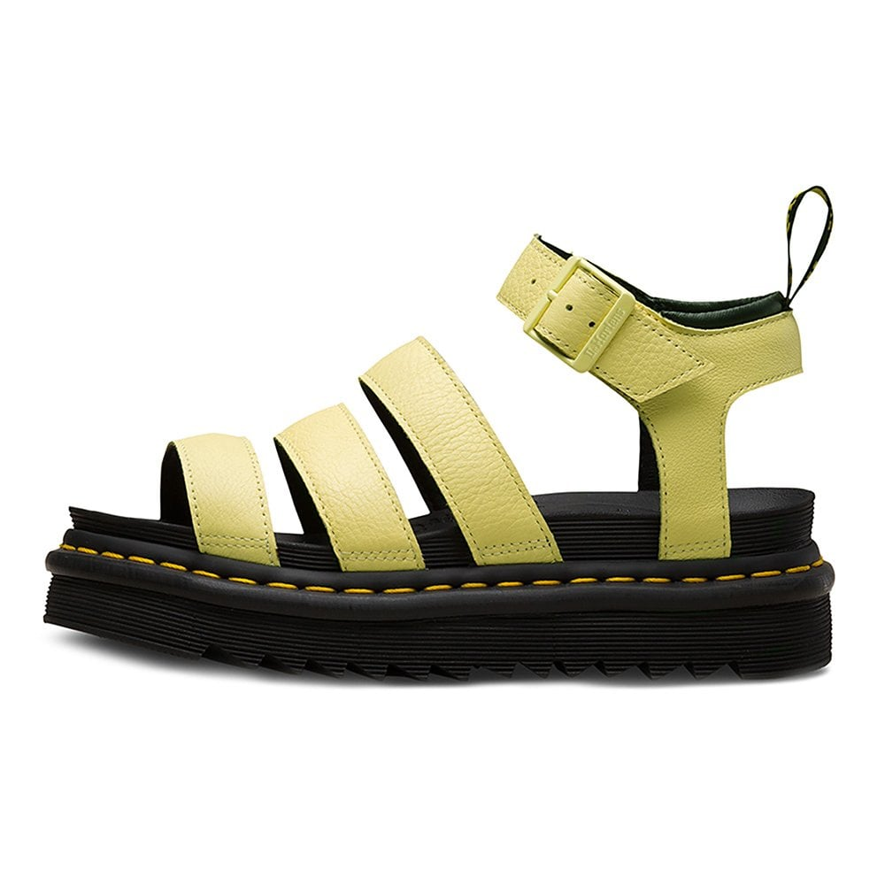 2e113cd6 Dr Martens Blaire Womens Leather Sandals - Pastel Yellow