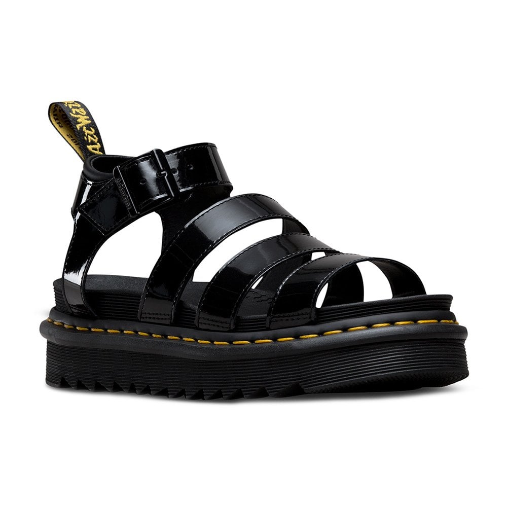 Blaire Black Sandals Leather Patent Womens w0v8mNn