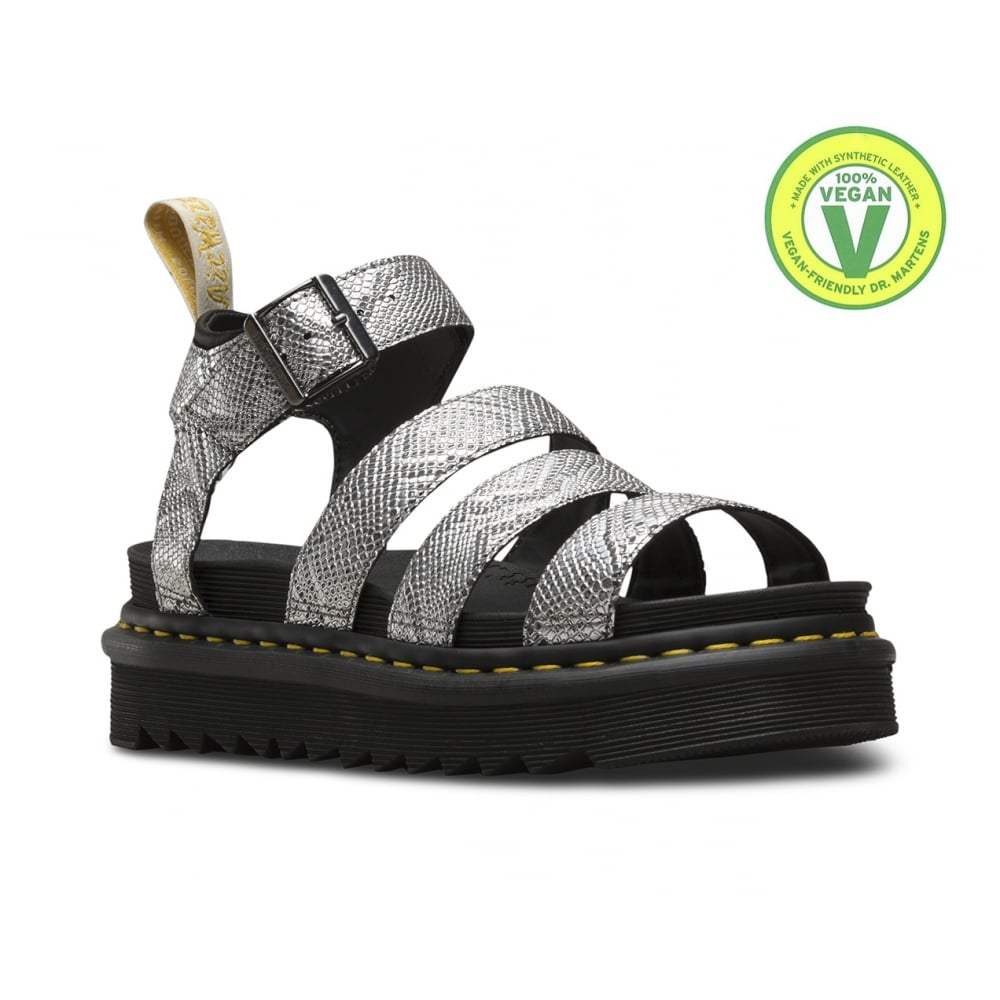 Dr Martens Blaire Womens Vegan Sandals - Metallic Snake 1dd1a420c7