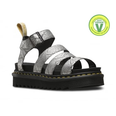 Dr Martens Blaire Womens Vegan Sandals - Metallic Snake