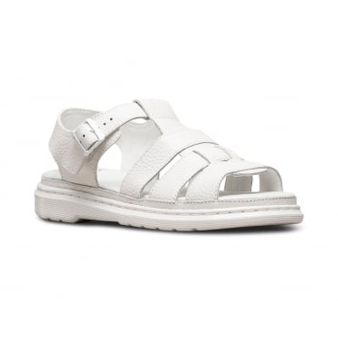 Dr Martens Carolyn II Womens Leather Sandals - White