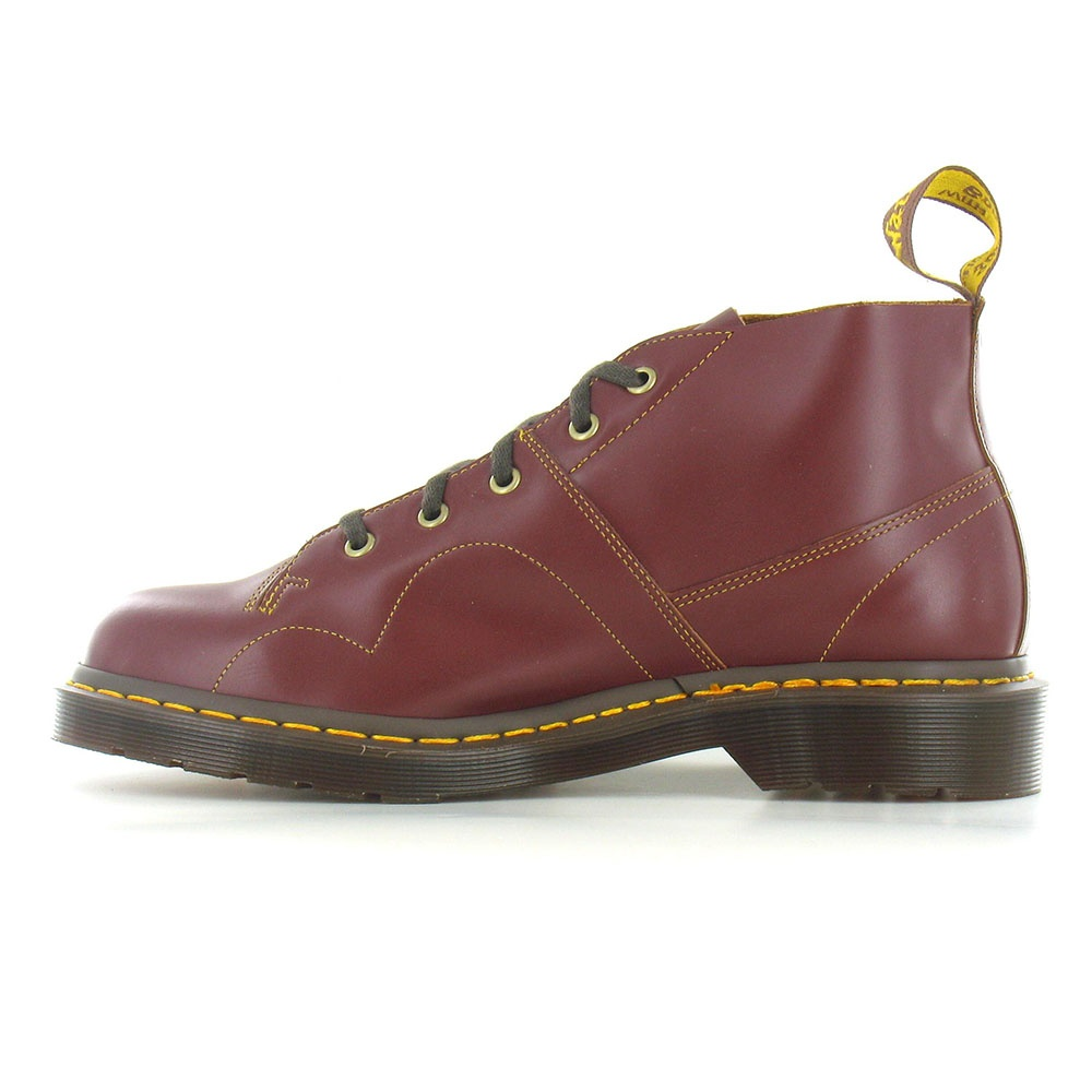 Dr Martens Church Unisex Leather Monkey Boots In Oxblood At Scorpio