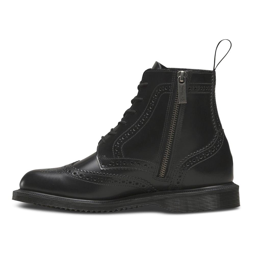 tanie trampki klasyczne buty niesamowity wybór Delphine Womens 6-Eyelet Brogue Boots - Black