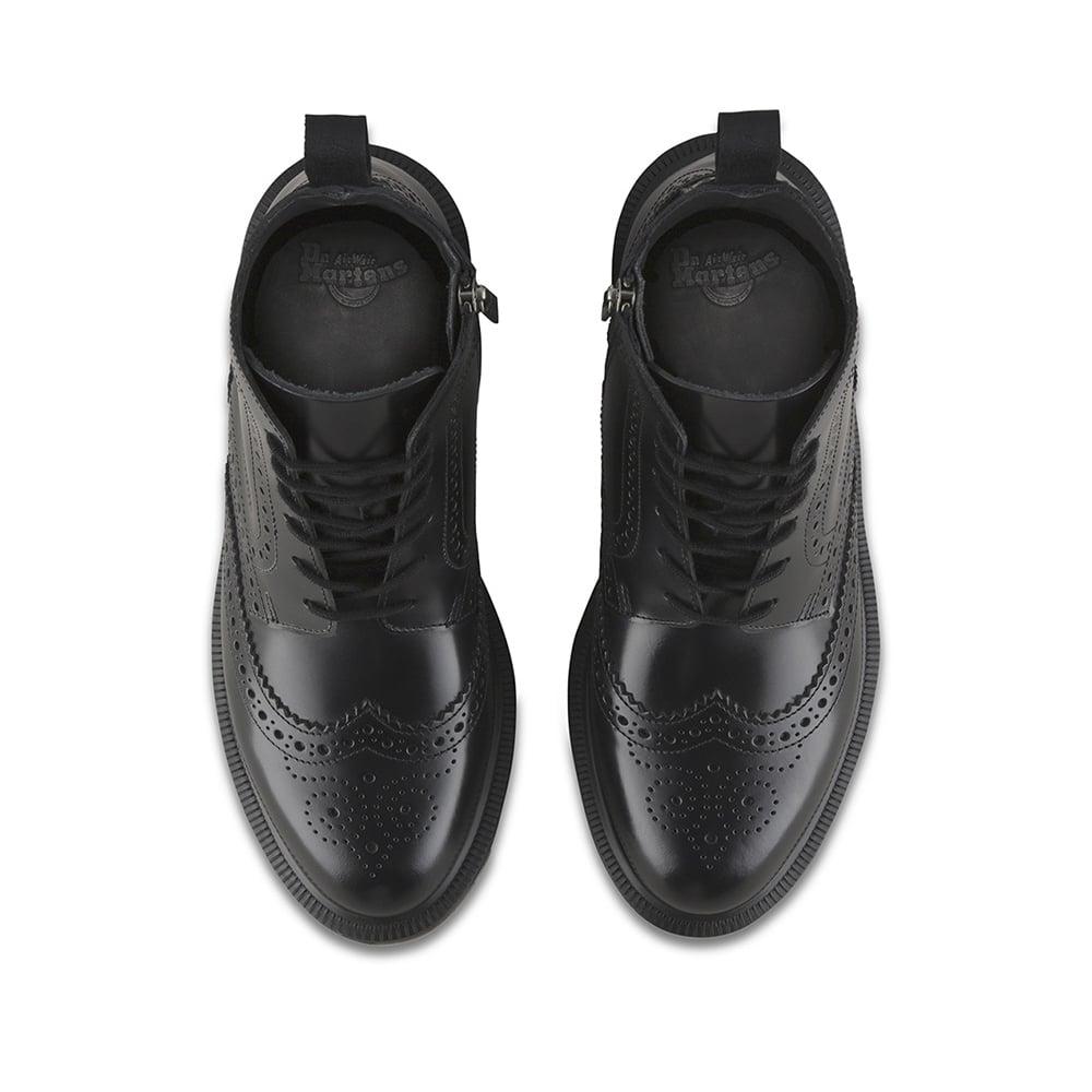 cf76675ae76 Delphine Womens 6-Eyelet Brogue Boots - Black