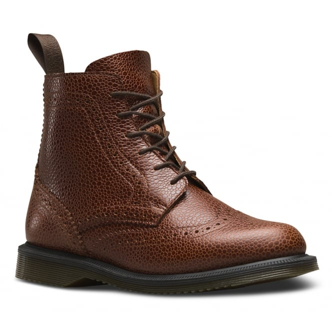 Dr Martens Delphine Womens 6-Eyelet Brogue Boots - Chestnut