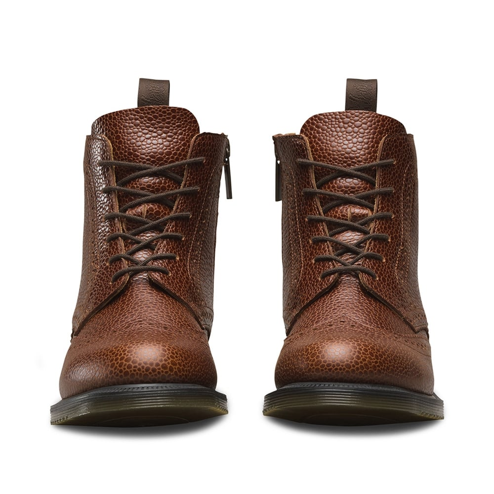 bf7c59b2880 Delphine Womens 6-Eyelet Brogue Boots - Chestnut