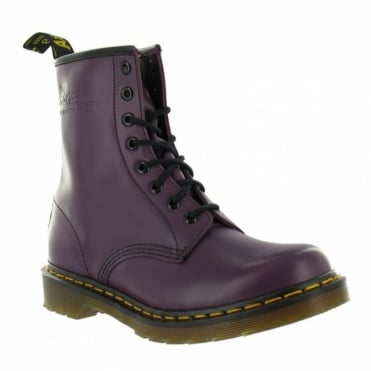 Dr Martens 1460z Womens Smooth Leather Boots - Purple