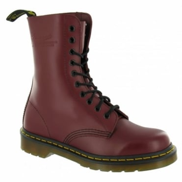 Dr Martens 1490 Unisex Mens Leather Ankle Boots - Cherry Red