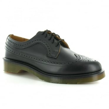 Dr Martens 3989 Unisex Leather Brogue Shoes - Black