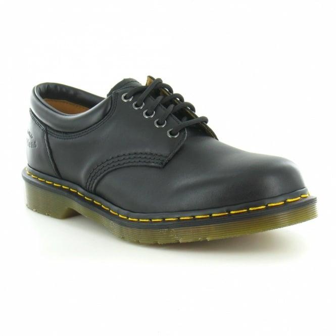 dr martens 8053 mens leather 5 eyelet shoes in black at
