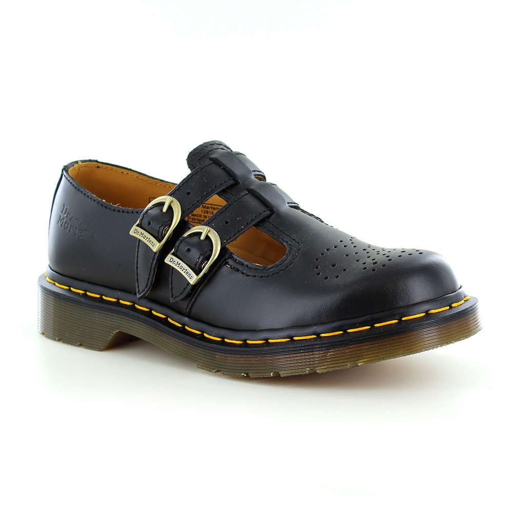 Dr Martens 8065 Womens Leather Mary Jane Shoes Black