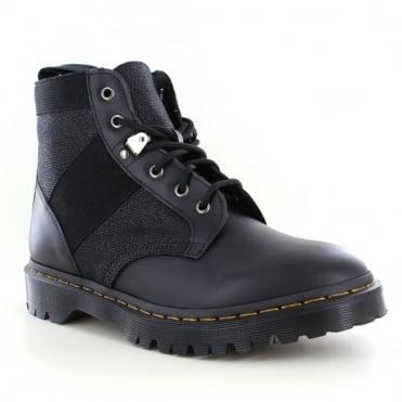 Dr Martens Beam Mens Hi Suede 6-Eyelet Boots - Black