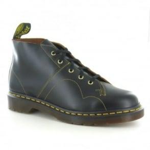 Dr Martens Church Unisex Leather Monkey Boots - Black