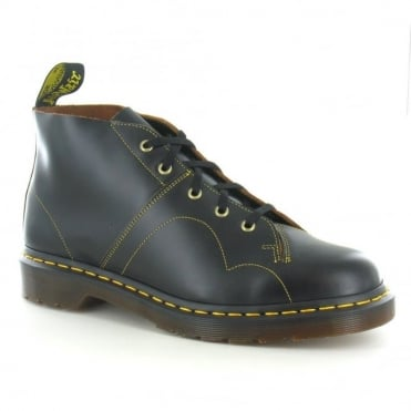 Dr Martens Church Unisex Leather Monkey Boots - Black