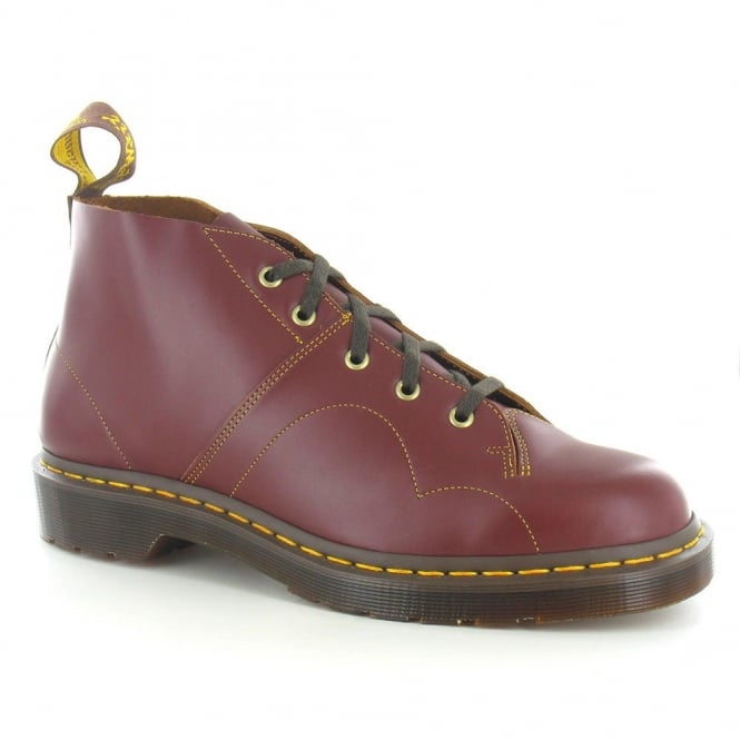 Dr Martens Church Unisex Leather Monkey Boots - Oxblood