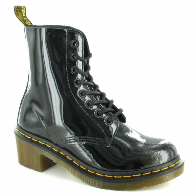 0184118f91f Dr Martens Clemency Womens Patent Leather Ankle Boots in Black at ...