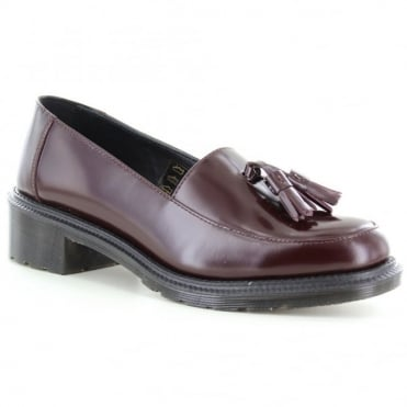Dr Martens Favilla Womens Tassel Shoes - Oxblood