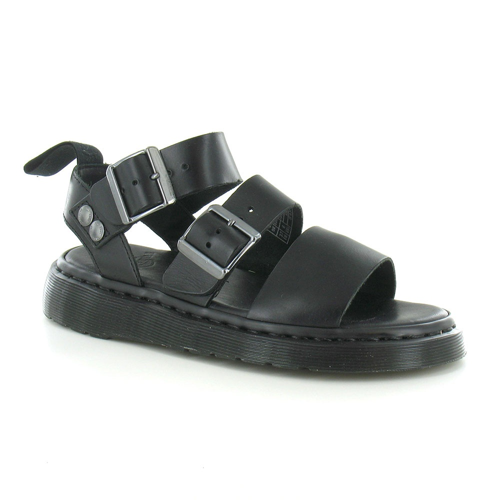 97127f93593 Dr Martens Gryphon Unisex Leather Strap Sandals in Black at Scorpio ...