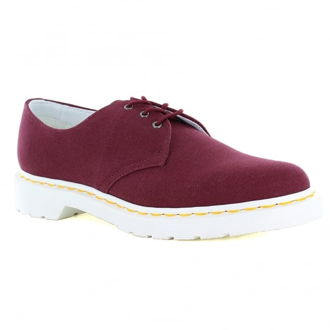 Dr Martens Lester Unisex Canvas Lace-Up Shoes - Old Oxblood