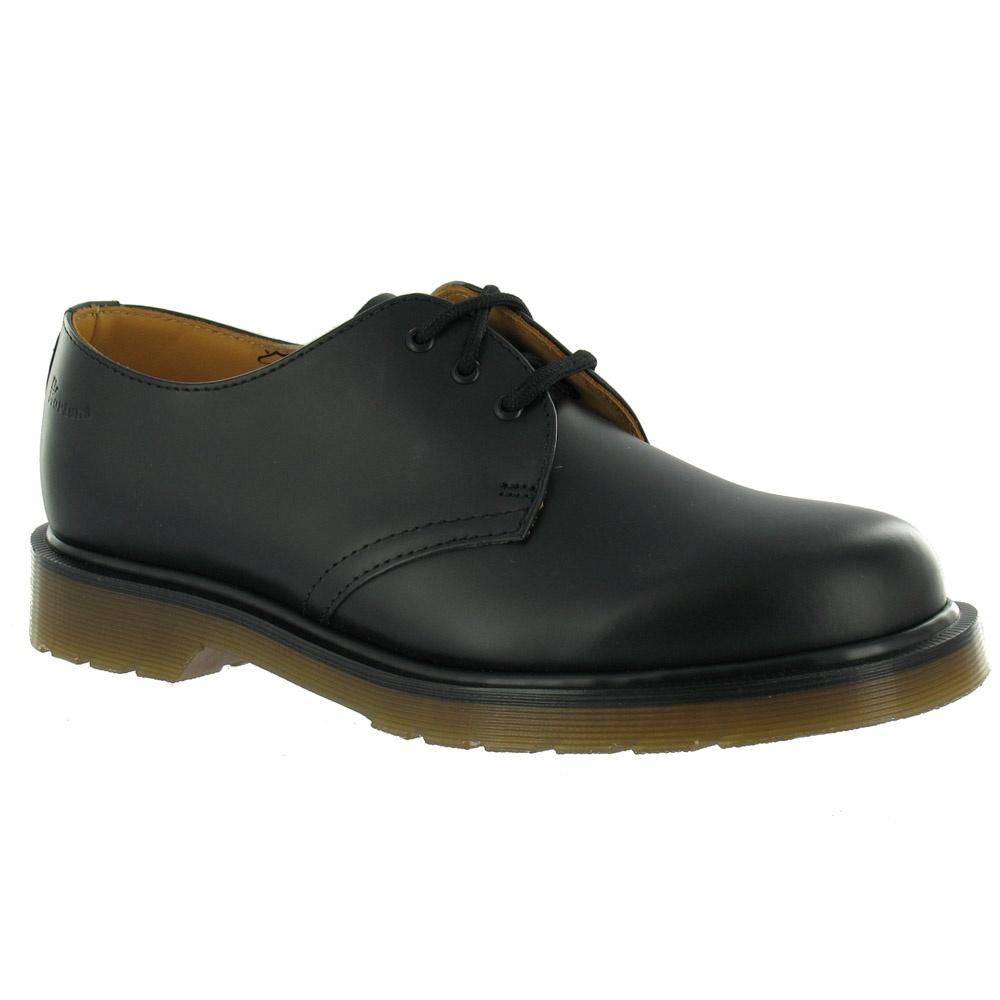 dr martens original 1461 pw unisex leather shoes in black