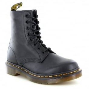 Dr Martens Pascal Womens Leather 8-Eyelet Ankle Boots - Black