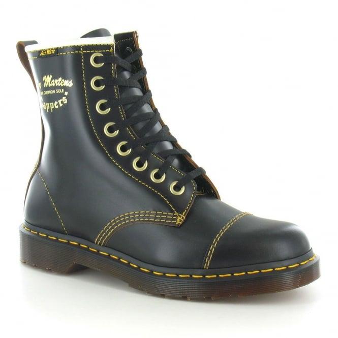 Dr Martens Philips Capper Unisex Leather Boots - Black